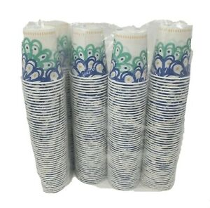 LOT OF 2 150 PACKAGES OF DIXIE CUPS BLUE GREEN & WHITE 2016 DRINK CUP 300 TOTAL
