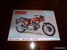 Ducati GT 750 Bevelhead Poster EXCELLENT NOS sport 860 bevel twin roundcase