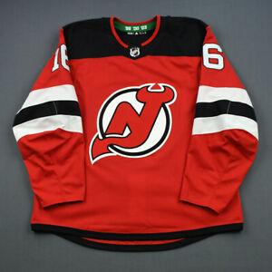 2018-19 Steven Santini New Jersey Devils Game Used Worn ADIDAS Hockey Jersey NHL