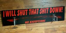 """Negan """"Lucille"""" Wall Plaque ~I WILL SHUT THAT SH*T DOWN!~Made-Custom-For-You!"""
