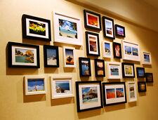 Wood Photo Frame Wall Collage Set Modern Home Office Art Decor 25pcs 190x90cm
