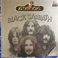 Black Sabbath – Attention! : 1972 Vinyl LP Rare German Import 6438 057 VG+