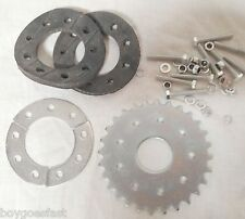 80cc Motor bicycle GAS ENGINE parts - 28 teeth flat sprocket with mount