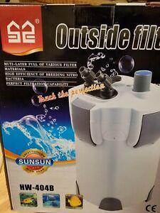 SUNSUN HW-404B 525 GPH 5-STAGE EXTERNAL CANISTER FILTER W/9W UV STERILIZER