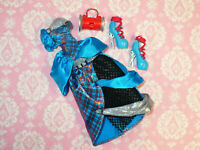 Mattel Monster High Doll FRANKIE STEIN THREADERELLA DRESS and SHOES PURSE