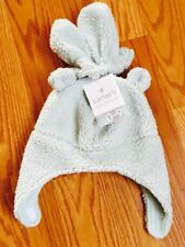 Carters Mint Green Faux Fur Baby Girl Boys Winter Hat Mittens Toddler 0-9 M NWT