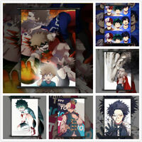 Boku no My Hero Academia Midoriya Bakugou Shoto Poster Scroll Home Decoration
