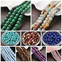 Natural Agate Gemstone Round Loose Beads 4MM 6MM 8MM 10MM 12MM Jewelry Making