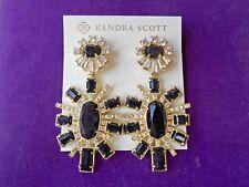 Kendra Scott NWT GLENDA Statement Earrings in Blue Goldstone