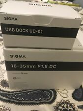 Sigma DC 18-35mm F/1.8 HSM DC Lens for Canon mount - Brand new! Free USB dock!