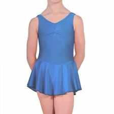 NEW BALLET DANCE LEOTARD WITH ATTATCHED SKIRT FROM 2-12 YEARS PINK BLUE ISTDJ