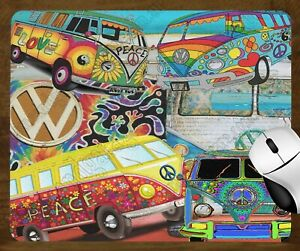 MOUSE PAD 190mm X 230mm - VOLKSWAGEN VW KOMBI COLLAGE