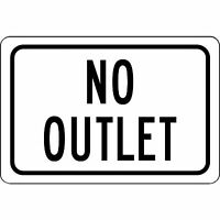 "No Outlet 12"" X 8"" Aluminum Metal Sign Novelty Sign"