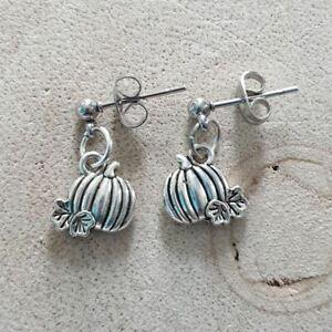 Pumpkin Dangle Earrings, Halloween Earrings, Novelty Earrings, Autumn Earrings