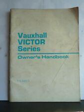 VAUXHALL VICTOR OWNER'S HANDBOOK 1971 TS991/3