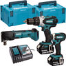 Makita DLX2145TJ 18V Twin Pack with 2 x 5.0Ah Batteries Charger & Case + DTM51Z