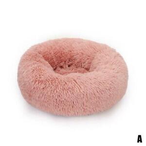 Large Shaggy Fluffy Pet Bed Dog Cat Donut Cuddler Cushion Machine Mats K4C4