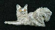 Sterling Silver hand carved Somali Cat pendant or slide