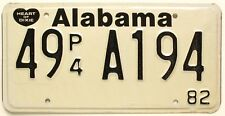 Alabama 1982 Privately-Owned Truck License Plate, Hamilton AL, Marion County