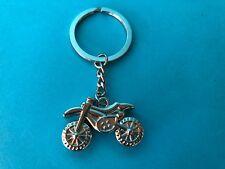 Silver/ Chrome Motorbike Pendant (Australian Stock) Keyring Keychain
