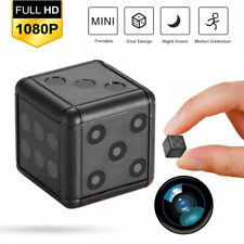 NEW 1080P HD Mini Hidden Camera Dice Microphone Hide Keychain Cam Security SQ16