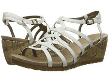 Lifestride womens neva white lansing wedge sandals size 9 w