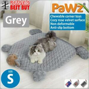 PaWz Pet Calming Bed Cat Dog Squeaky Toys Cushion Puppy Kennel Mat (S) (Grey)