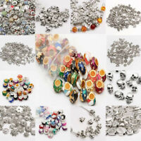 Lots  Wholesale Tibet Silver Beads Spacer For Jewelry Making European Bracelets