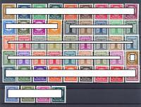 DR Dienstmarken 132-43, 144-54, 155-65, 166-77 postfrisch komplett (ts92)