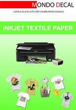 carta transfer per tessuti chiari: 10 fogli A4 stampa inkjet