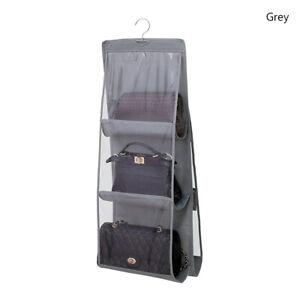 Handbag Organizer Space-saving Hanging Purse Tote Sundry Storage Bag 6 Pocket A