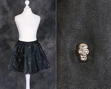 T-34 Kunstleder Rock Skull Gothic Punk Visuel-Kei schwarz Skirt Harajuku Japan