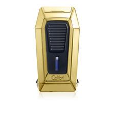 NEW Colibri Gotham Quantum Triple Jet Lighter Built In Cigar V - Cutter GOLD
