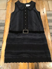 Anna Sui for Target Gothic Satin Dress Peter Pan Collar Flapper Size Small NWT