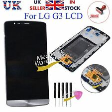 FOR LG G3 D855 D850 LCD DIGITIZER TOUCH SCREEN DISPLAY LENS BLACK / GREY FRAME