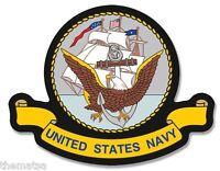 "NAVY MILITARY LOGO 4"" BUMPER STICKER DECAL MADE IN USA"