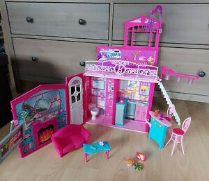 Barbie Puppe Mattel Möbel Zubehör Traumhaus Glam Koffer Haus Klapphaus Küche