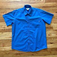 Mens Carhartt Short Sleeve Button Up Cotton Shirt Size Large