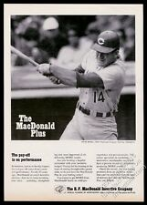 1973 Pete Rose photo Cincinnati Reds at bat Ef MacDonald vintage print ad