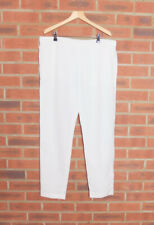 Nicole Farhi White Linen Trousers UK 14 BNWT RRP £250