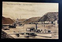 AK Litho Rhein-Partie bei ST. GOAR - St. Goarshausen Schiffe ca. 1910 nicht gela