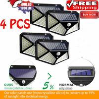Solar Power PIR Motion Sensor Wall Light Outdoor Garden Lamp Waterproof 100 LED.
