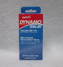 Dynamo Delay Spray 3/4oz Lidocaine Sexy Male Penis Desensitizer Prolong Erection