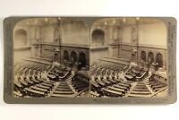 Germania Berlino Parlement Interno 1903 Foto Stereo Vintage Albumina