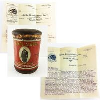 Clearance Tobacco Letter Lot Cheroot Cigar Pricelist 1900s Prince Albert Tin