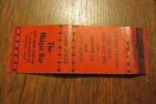 a207 Vintage matchbook cover the Midget Bar Pontiac Michigan MI MICH Mellick