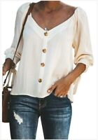 T-shirt Ladies Loose Casual Blouse Fashion Long Sleeve Shirt Women's Tops Summer