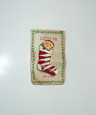 Vintage Christmas Scatter Pin Doll In Red Striped Stocking Korea Cute!
