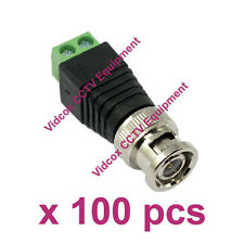 100x CAT5 Cat6 UTP to Coaxial BNC Male Connector Jack Plug Balun for CCTV Camera