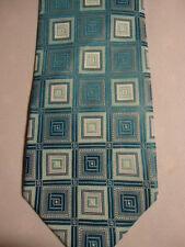 "Men's Tie Blue White Checks Squares 59"""